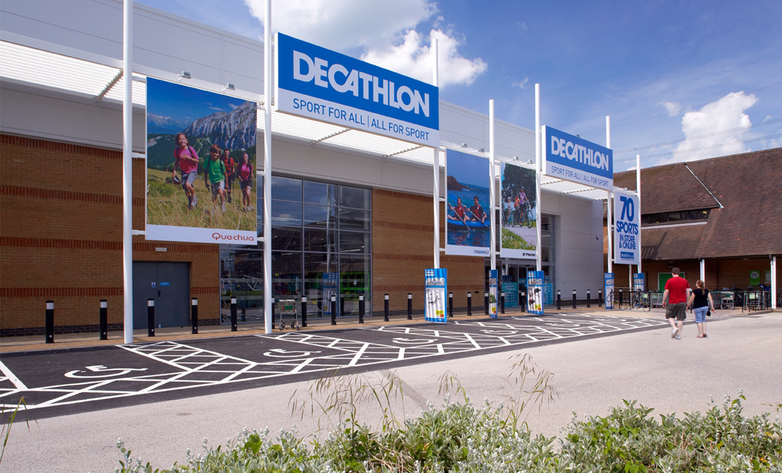 Decathlon store entrance