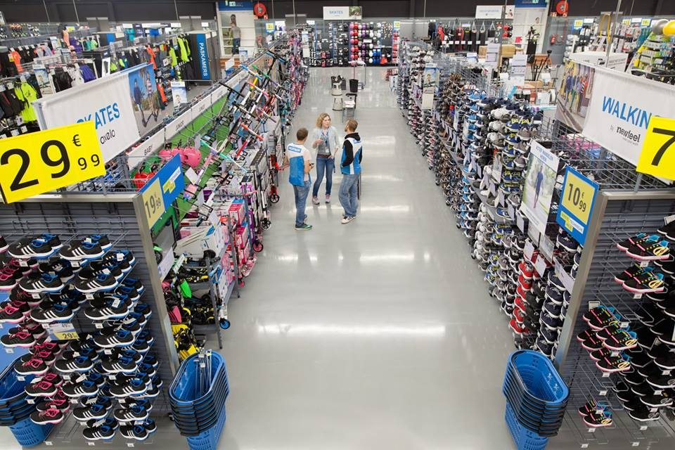 Decathlon store inside