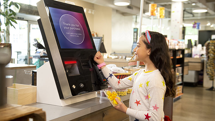 Self-checkout in essential retail